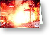 Treasure Island Greeting Cards - Treasure Island Explosion Greeting Card by Andy Smy