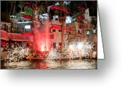 "\""pirate Ship\\\"" Greeting Cards - Treasure Island Pirates Greeting Card by Andy Smy"