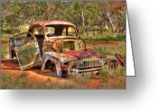 Chev Pickup Greeting Cards - Treasure Greeting Card by James Mcinnes