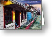Transformative Art Greeting Cards - Treats in Nevada City Greeting Card by Lisa Redfern