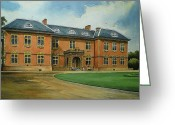 "\\\""haunted House\\\\\\\"" Drawings Greeting Cards - Tredegar House Greeting Card by Andrew Read"