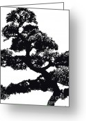 Award Digital Art Greeting Cards - Tree-01-bk Greeting Card by Eakaluk Pataratrivijit