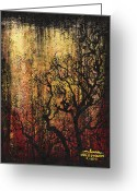 Grungy Greeting Cards - Tree Greeting Card by Arleana Holtzmann