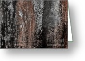 Digitalized Digital Art Greeting Cards - Tree Bark Greeting Card by Marsha Heiken