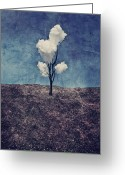 Textured Art Greeting Cards - Tree Clouds 01d2 Greeting Card by Aimelle