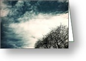 Heavens Greeting Cards - Tree Crown Greeting Card by Joana Kruse