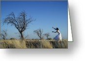 White Dress Greeting Cards - Tree Echo Greeting Card by Scott Sawyer