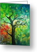 Vector Image Greeting Cards - Tree Fantasy Greeting Card by Ramneek Narang