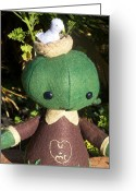 Toys Sculpture Greeting Cards - Tree Friend Greeting Card by Leeanne Vavra