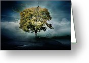 New-year Greeting Cards - Tree of Hope Greeting Card by Karen Koski