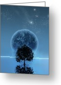Nature  Digital Art Greeting Cards - Tree Of Life Greeting Card by Andreas  Leonidou
