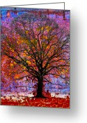 Cityscape Digital Art Greeting Cards - Tree of Life Greeting Card by David Clanton