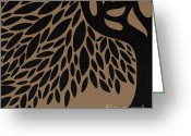 Marker Paper Drawings Greeting Cards - Tree of Life Greeting Card by HD Connelly