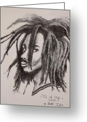 Dreadlocks Greeting Cards - Tree of Life Greeting Card by Ikahl Beckford