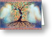 Origin Greeting Cards - Tree of Life Greeting Card by Kathy Braud