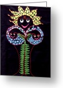 Life Tapestries - Textiles Greeting Cards - Tree of Life Greeting Card by Kruti Shah