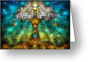 Ark Greeting Cards - Tree of Life Greeting Card by Mandie Manzano