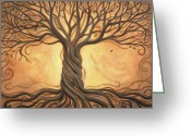 Trees Painting Greeting Cards - Tree of Life Greeting Card by Renee Womack