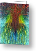 Vibrant Pastels Greeting Cards - Tree Of Oblivion Greeting Card by Wojtek Kowalski