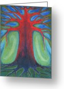 Vibrant Pastels Greeting Cards - Tree Of Quiet Greeting Card by Wojtek Kowalski