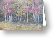 Giclee Pastels Greeting Cards - Tree Pageant Greeting Card by Penny Neimiller