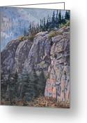 Skagway Greeting Cards - Treeline Greeting Card by Donald Maier