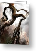 Featured Greeting Cards - Treeman Greeting Card by Alex Ruiz