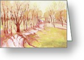 J Reifsnyder Greeting Cards - Trees4 Greeting Card by J Reifsnyder