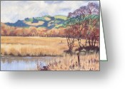 Caron Greeting Cards - Tregaron Bog Greeting Card by Edward McNaught-Davis