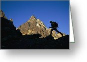 Hikers And Hiking Photo Greeting Cards - Trekking The Mocya Valley Greeting Card by Bobby Model