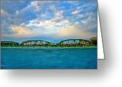 Delaware River Greeting Cards - Trenton Makes the World Takes Greeting Card by Bill Cannon