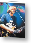 Phish Greeting Cards - Trey Anastasio and Lights Greeting Card by Joshua Morton