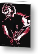 Phish Greeting Cards - Trey Anastasio in Pink Greeting Card by Joshua Morton