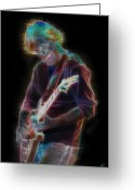 Phish Greeting Cards - Trey Anastasio Greeting Card by Kenneth Johnson