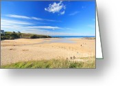 Beaches Greeting Cards - Treyarnon Bay Greeting Card by Carl Whitfield