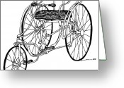 Black Artwork Greeting Cards - Tri Bike Greeting Card by Karl Addison