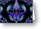 Fractal Art Pastels Greeting Cards - Tribal fractal Greeting Card by Evelyn Patrick
