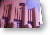 Art Of Building Mixed Media Greeting Cards - TRIBUTE  9  -  Art Deco Greeting Card by Gunter Erik  Hortz