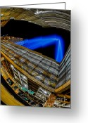 Battery Park Greeting Cards - Tribute In Lights 9 11 2012 Greeting Card by Susan Candelario