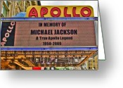 Michael Jackson Photo Greeting Cards - Tribute Greeting Card by June Marie Sobrito