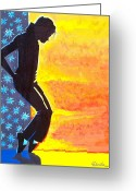 Michael Jackson Greeting Cards - Tribute to Michael Jackson Greeting Card by Daniela Antar Power