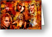 Martoni Greeting Cards - Tribute to Taylor Swift Greeting Card by Alex Martoni