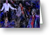 Graffiti Greeting Cards - Tribute to the King of Pop Greeting Card by A Martoni