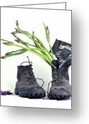 Boot Greeting Cards - tribute to Van Gogh Greeting Card by Bernard Jaubert