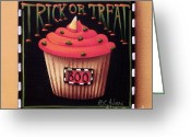 Kitchen Decor Greeting Cards - Trick or Treat Greeting Card by Catherine Holman