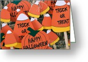 Trick Or Treat Greeting Cards - Trick or Treat Happy Halloween Greeting Card by Julie Palencia