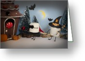 Trick Or Treat Greeting Cards - Trick or Treat Greeting Card by Heather Applegate