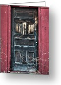 Old Doors Greeting Cards - Trick or Treat Greeting Card by Ross Powell
