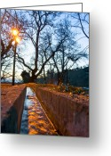 Pelion Greeting Cards - Trickling Greeting Card by George Messaritakis