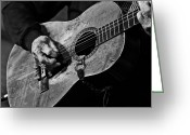 Guitar Greeting Cards - Trigger and Willie Greeting Card by Ty Helbach